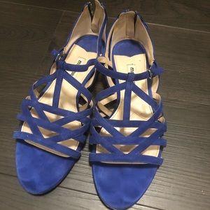 Miu miu blue suede sandals size 6
